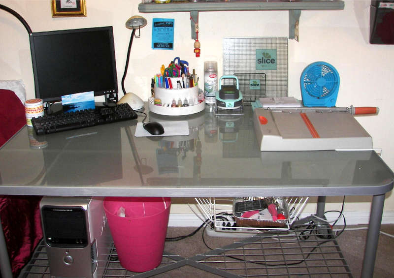*Re-organized scraproom - my workdesk