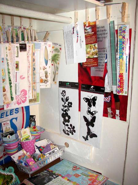 *Re-organized scraproom - detail of half of closet