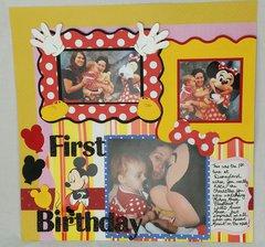 First Birthday at Disneyland