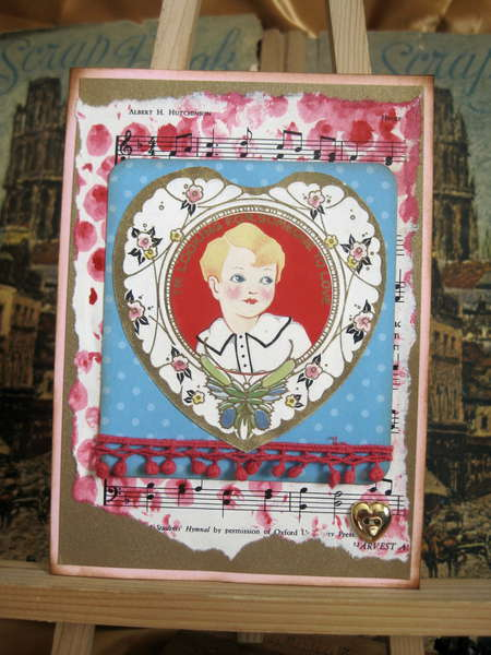 Vintage and New Valentine card