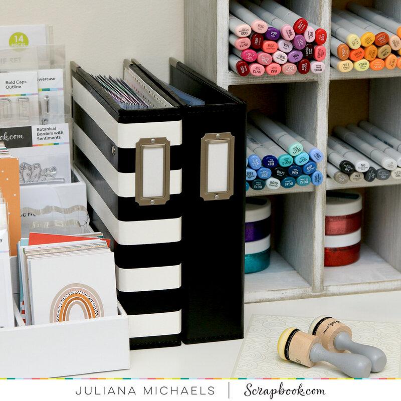 Craft Room Storage with 6x8 Album
