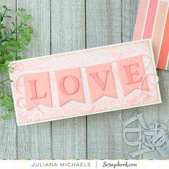 Love Banner Slimline Card