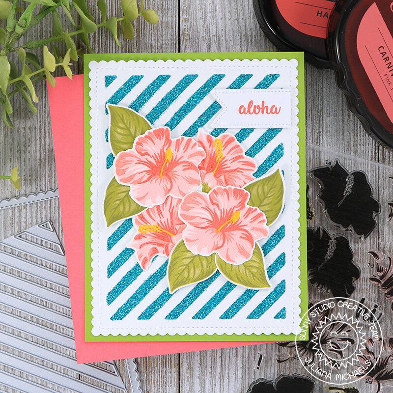 Aloha Card *Sunny Studio Stamps*