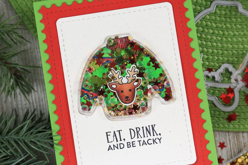 Ugly Christmas Sweater Shaker Card *Jillibean Soup*