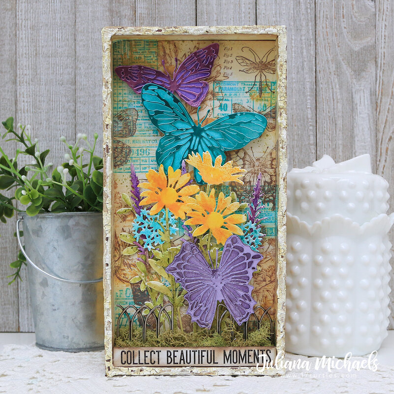Beautiful Moments Tim Holtz Sizzix Scribbly Butterflies