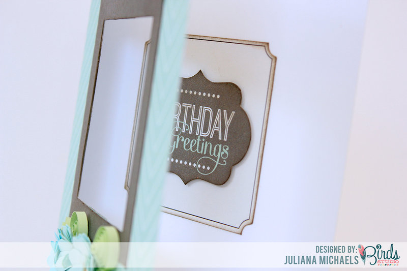 Birthday Greetings Quilled Card