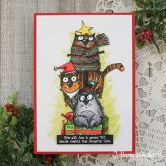 Snarky Cats Christmas Card
