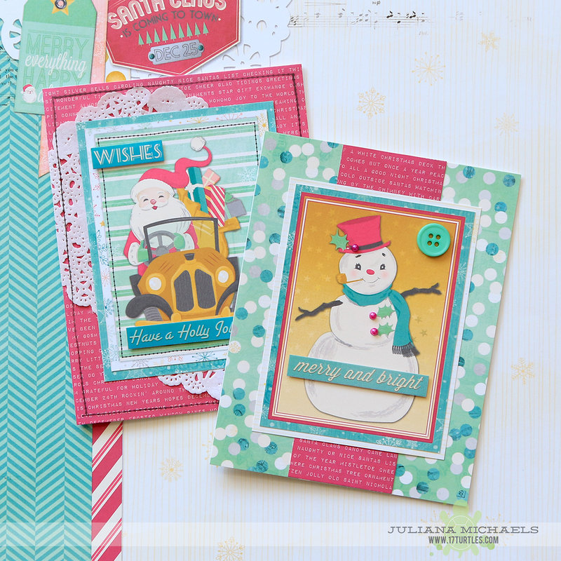 BoBunny Christmas Cards with Candy Cane Lane