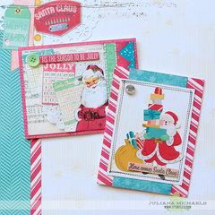 BoBunny Candy Cane Lane Christmas Cards