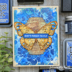 Don't Forget To Fly Card Prize Ribbon Distress Color