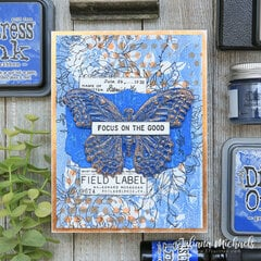 Focus On The Good Card Prize Ribbon Distress Color