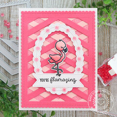 You're Flamazing Card Sunny Studio Stamps