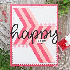 Happy Birthday Card Sunny Studio Stamps