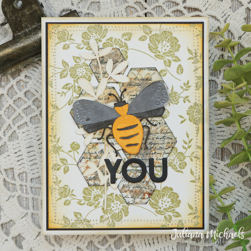 Funky Insects Card   Bee You