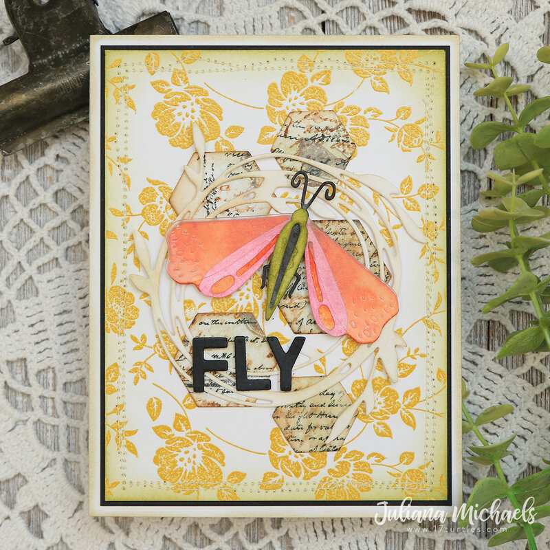 Funky Insects Card | Fly