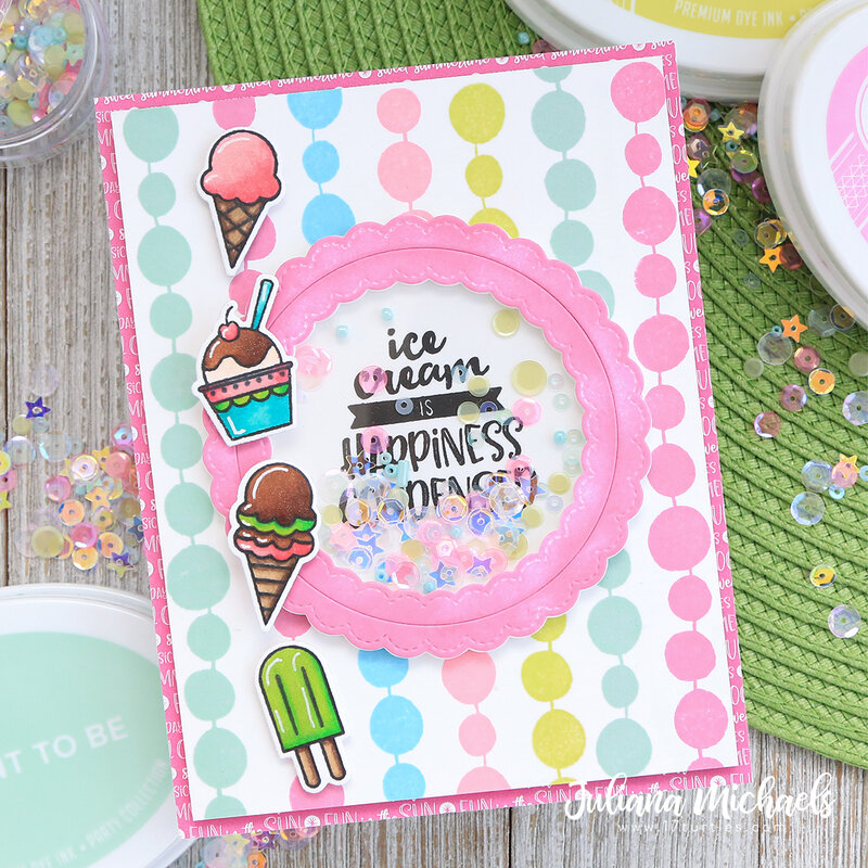 Happiness Condensed Shaker Card