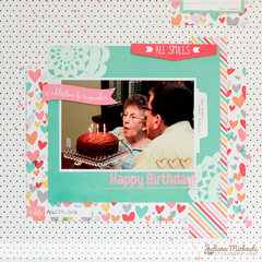 Happy Birthday Scrapbook Page *Elle's Studio*