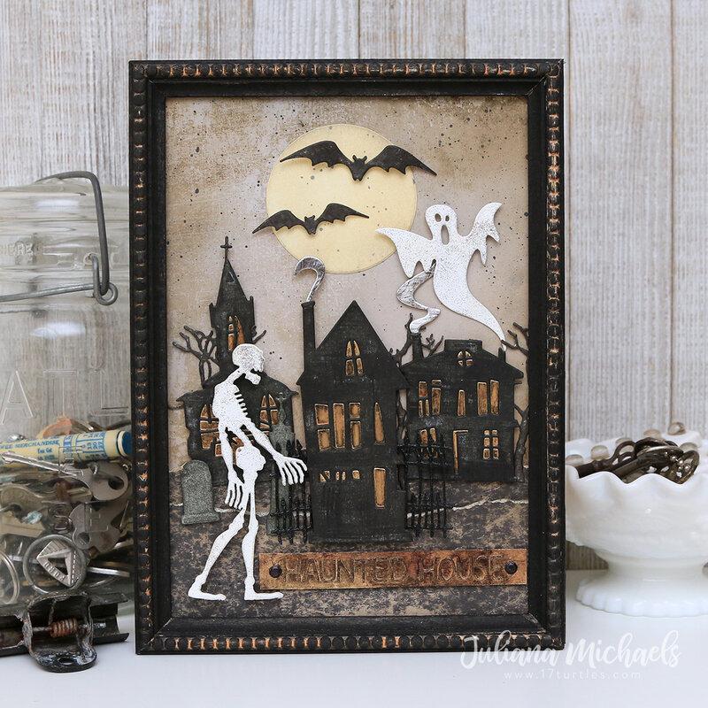 Haunted House Halloween Mixed Media