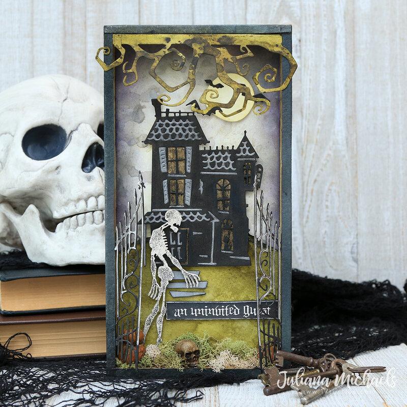 Halloween Haunted House Vignette