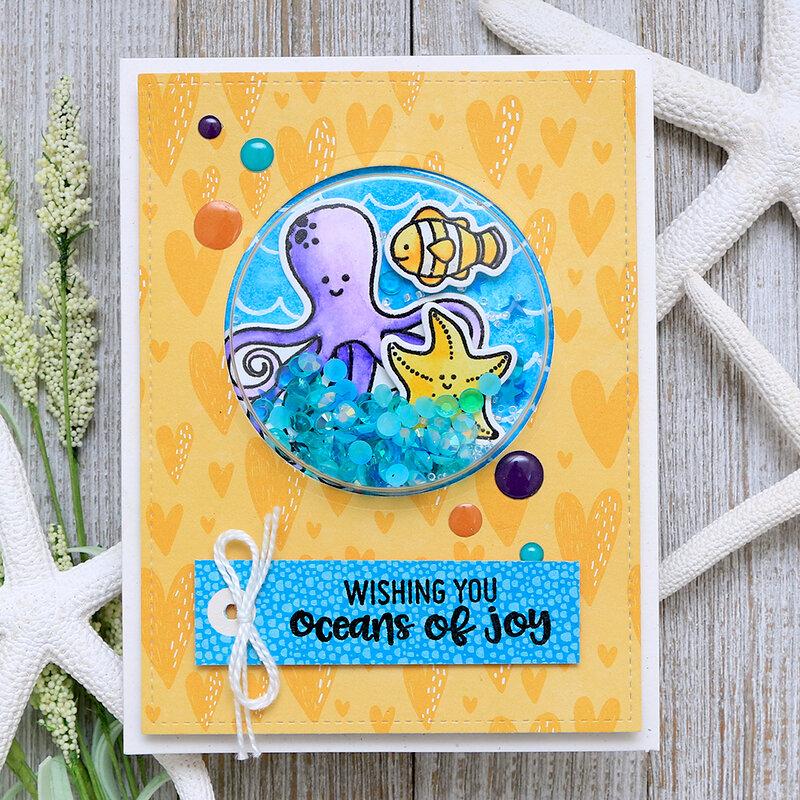 Oceans of Joy Shape Shaker Card Jillibean Soup