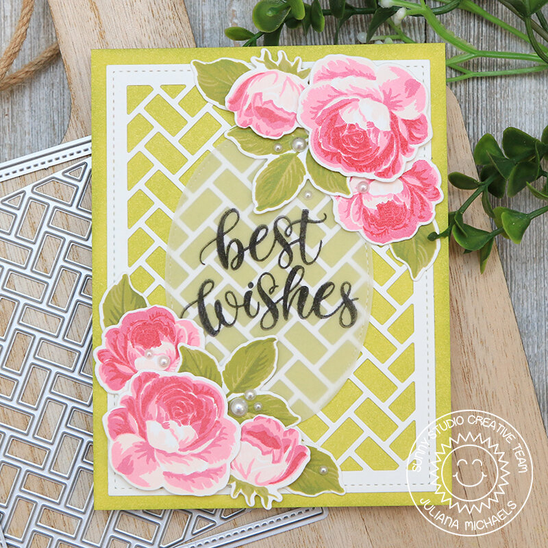 Best Wishes Card Sunny Studio Stamps