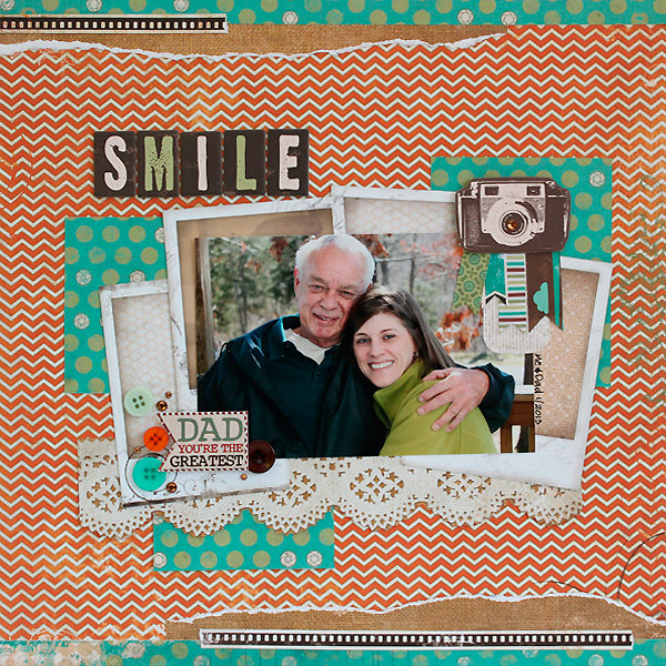 Smile Dad - DT Layout for Bo Bunny - Mama-Razzi2