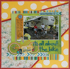 It's All About The Bike - Bo Bunny DT - Key Lime