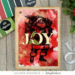 Joy Santa Card