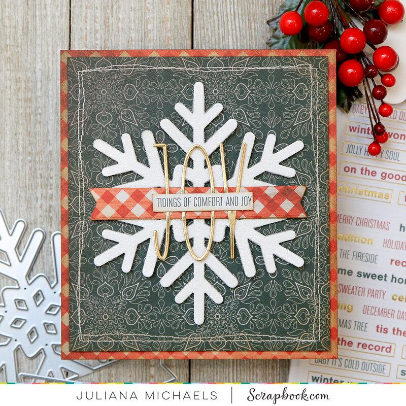 Joy Snowflake Card