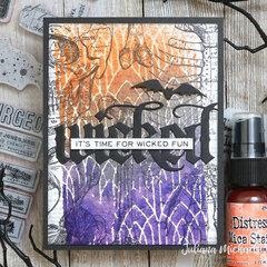 Halloween Card featuring Tim Holtz Halloween Distress Mica Stains