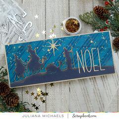 Noel Slimline Christmas Card