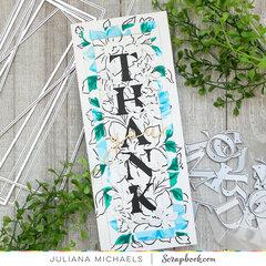 Thank You Slimline Card with Scrapbook.com Nested Slimline Rectangle Dies