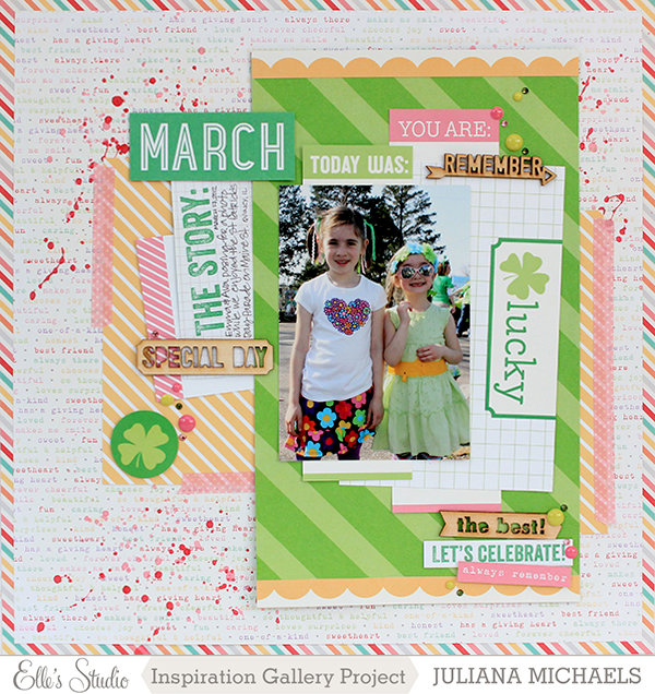 March Scrapbook Page ***Elle's Studio***