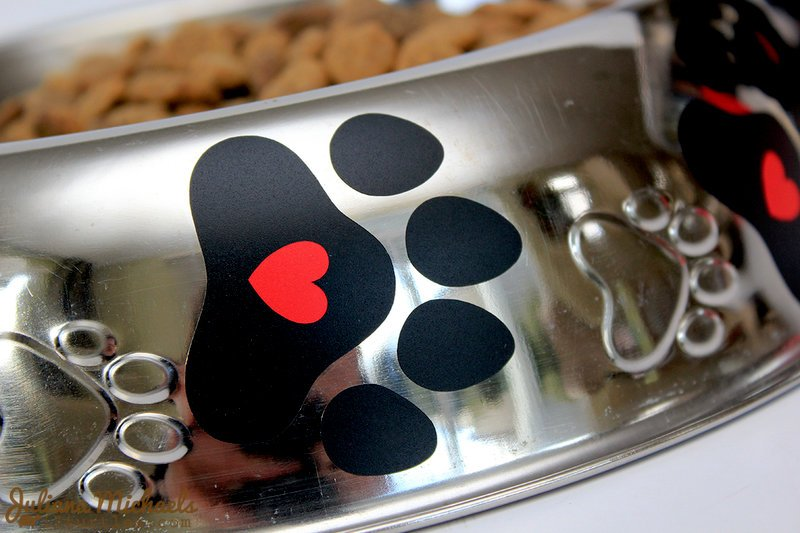 Adhesive Vinyl decorated Dog Bowls ***SRM Stickers***