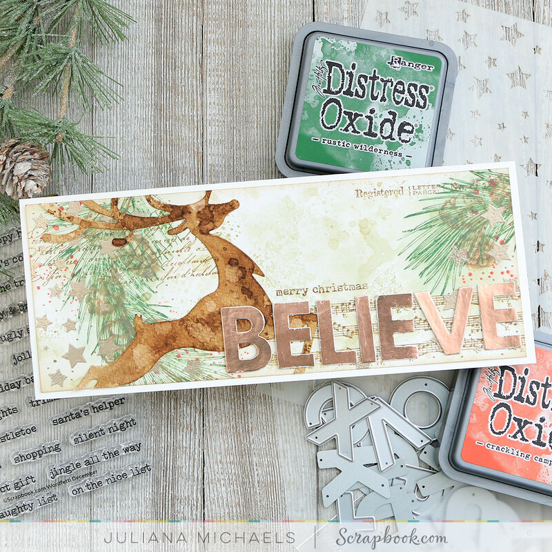 Believe Slimline Christmas Card