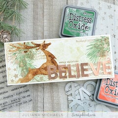 Believe Slimline Christmas Card
