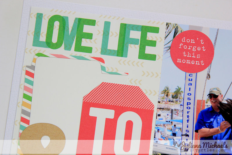 Love Life Scrapbook Page