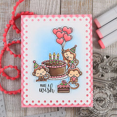 Make A Wish Birthday Card *Sunny Studio Stamps*