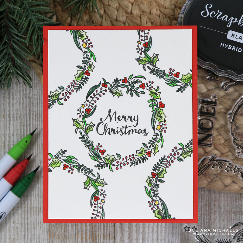 Rustic Wreath Merry Christmas Card