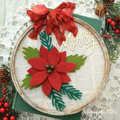 Merry Embroidery Hoop Christmas Home Decor