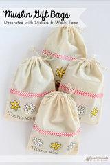 Muslin Gift Bags *SRM Stickers*