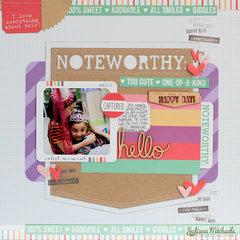 Noteworthy Scrapbook Page *Elle's Studio*