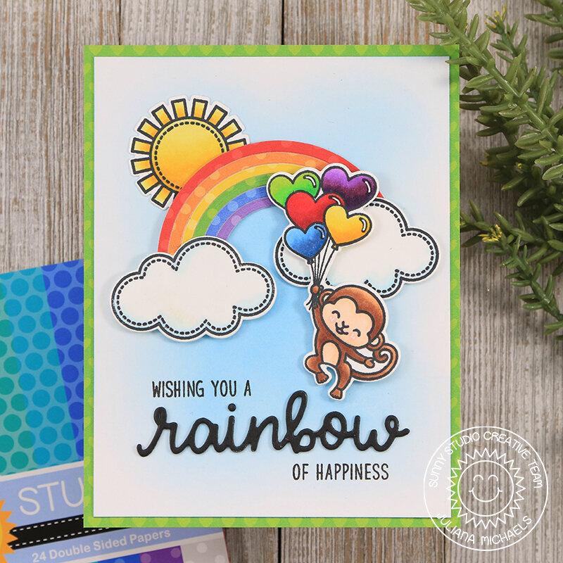 Wishing You A Rainbow *Sunny Studio Stamps*