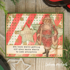 Santa Looks Attractive Christmas Card