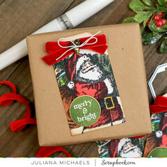 Santa Christmas Tag