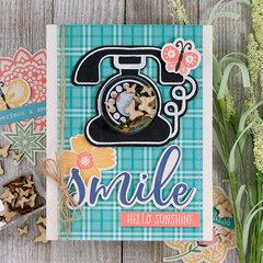 Smile Call Me Shaker Card *Jillibean Soup*