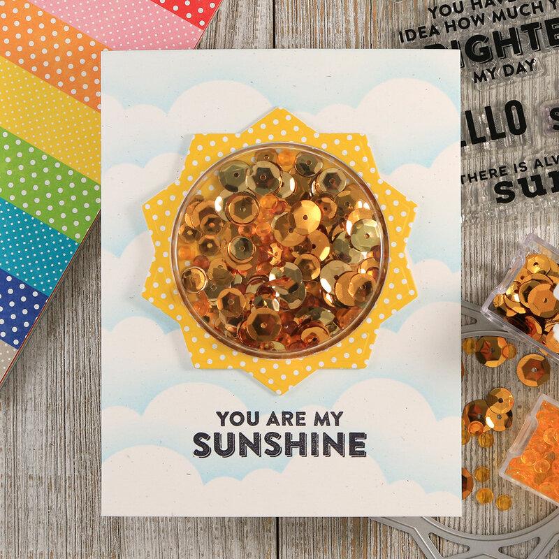 Sunshine Shaker Card *Jillibean Soup*