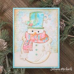Winston Snowman Christmas Easel Card