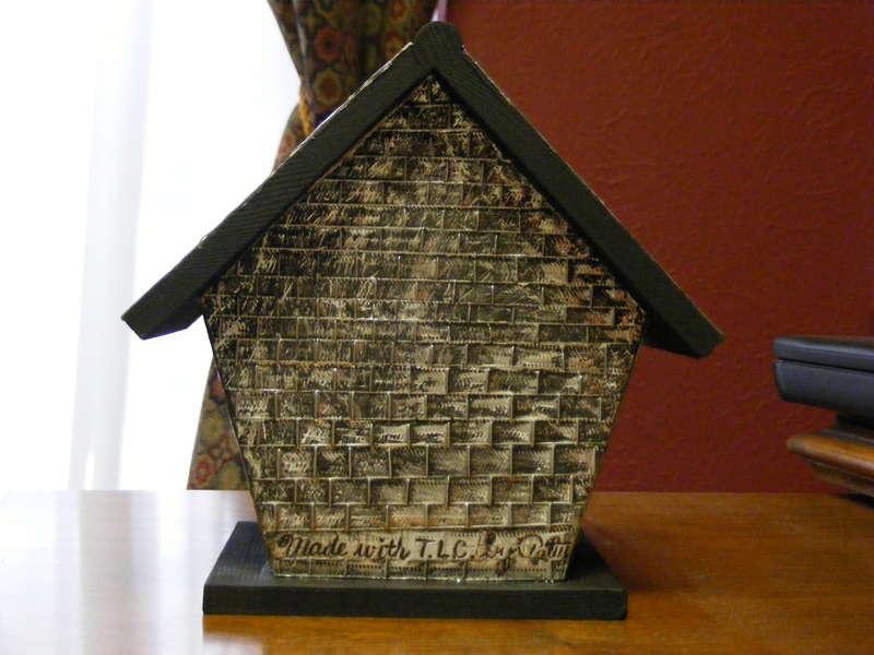 Decorative Birdhouse, back