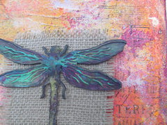 Dragonfly Canvas Detail